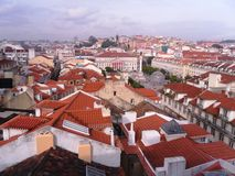 Beautiful panoramic view on Lisbon roofs, Spain Stock Image