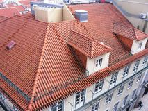 Beautiful panoramic view on Lisbon roofs, Spain Stock Photography