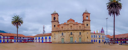 Beautiful panoramic view at the main square and Royalty Free Stock Photography
