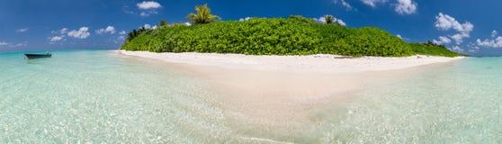 Beautiful panoramic view of Maldive Island.  Stock Photo