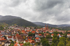 Beautiful panoramic view of the mountain village Forbach..Germany. Schwarzwald stock image