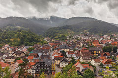 Beautiful panoramic view of the mountain village Forbach..Germany. Schwarzwald royalty free stock photography