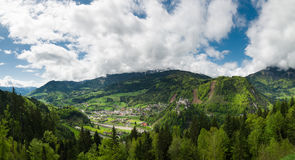 Beautiful panoramic view of mountains, Austria Royalty Free Stock Images