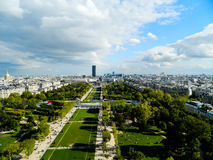 Beautiful panoramic view of Paris city in sunny weather Royalty Free Stock Photos