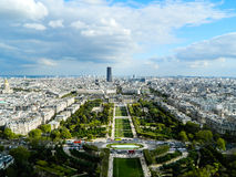 Beautiful panoramic view of Paris city in sunny weather Royalty Free Stock Photography