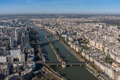 Beautiful panoramic view of Paris from the Eiffel Tower Royalty Free Stock Photos
