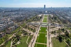 Beautiful panoramic view of Paris from the Eiffel Tower Stock Photos