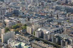 Beautiful panoramic view of Paris from the Eiffel Tower Royalty Free Stock Images