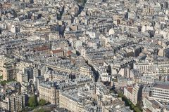 Beautiful panoramic view of Paris from the Eiffel Tower Royalty Free Stock Photography