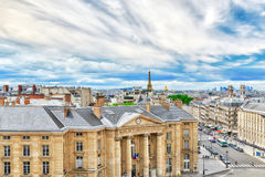 Beautiful panoramic view of Paris Royalty Free Stock Photos