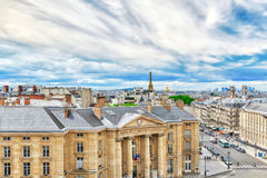 Beautiful panoramic view of Paris from the roof of the Pantheon. Stock Images
