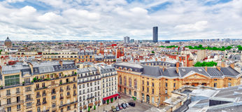 Beautiful panoramic view of Paris from the roof of the Pantheon. Stock Image