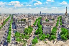 Beautiful panoramic view of Paris . Royalty Free Stock Photo