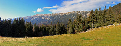 Beautiful panoramic view of the Piatra Craiului mountains Royalty Free Stock Photos