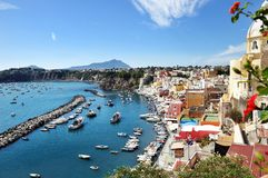 Beautiful panoramic view of Procida Stock Photography