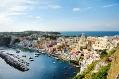 Beautiful panoramic view of Procida Royalty Free Stock Photo