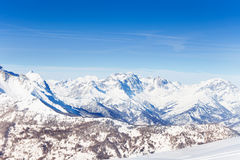 Beautiful panoramic view of snowcapped mountains Royalty Free Stock Image