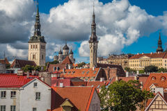 Beautiful Panoramic view of Tallinn Estonia Royalty Free Stock Image