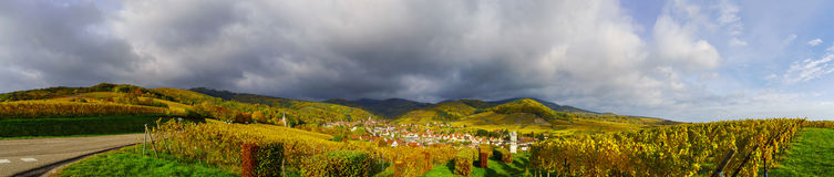 Beautiful panoramic view to Andlau, France Royalty Free Stock Photography