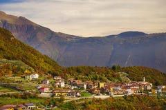 Beautiful panoramic view of Torbole sul Garda, Northern Italy stock photography