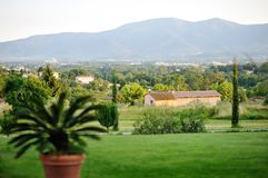 Beautiful panoramic view of Tuscan. Italy Royalty Free Stock Photography
