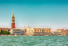 Beautiful panoramic view of Venice from the water Royalty Free Stock Images