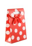 Beautiful paper bag on white Stock Photography