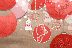 Beautiful paper Christmas collage Royalty Free Stock Photography