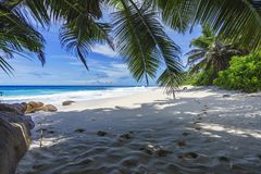 Beautiful paradise beach, anse bazarca, seychelles 10 Royalty Free Stock Photography