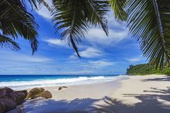 Beautiful paradise beach, anse bazarca, seychelles 26 Stock Photo