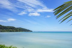 Beautiful paradise beach,white sand,turquoise water,palms, seych. Beautiful paradise beach anse bazarca on mahé. white sand,turquoise water,palm trees, granite Stock Images