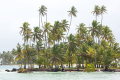 Beautiful paradise island, San Blas Royalty Free Stock Photography