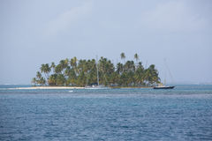Beautiful paradise island, San Blas Stock Photography
