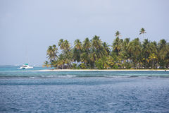 Beautiful paradise island, San Blas Royalty Free Stock Photo