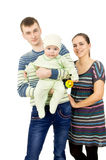 Beautiful parents holding the hands of his baby Stock Photography