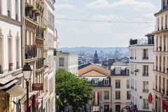 Beautiful Paris cityscape seen from Montmartre hill, Paris, Fran Royalty Free Stock Photos