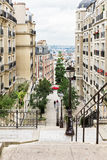 Beautiful Paris cityscape seen from Montmartre hill, Paris, Fran Stock Photos