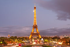 Beautiful Paris at dusk Stock Images