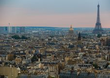 Beautiful Paris, from a high perspective royalty free stock photo