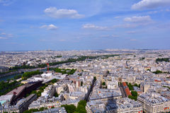 Beautiful Paris panoramic view, France Royalty Free Stock Photos