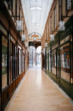 Beautiful Parisian shopping gallery Royalty Free Stock Photo
