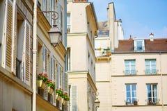 Beautiful Parisian street Royalty Free Stock Images