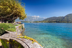 Beautiful park along the coast of Lake Como Stock Photography