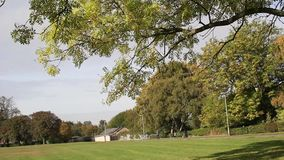 Beautiful park in the autumn time in Scotland. footage stock video footage