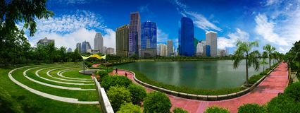 Beautiful park in the city. Stock Images