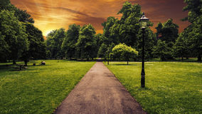 Beautiful park in the city of Southampton Stock Photography