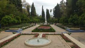 Beautiful park in fes city, morocco royalty free stock image