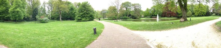Beautiful park in Holland, panorama view Royalty Free Stock Images