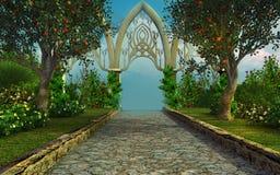 Beautiful park lane Stock Photography