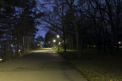 Beautiful park Letna in Prague at night in HDR Royalty Free Stock Images